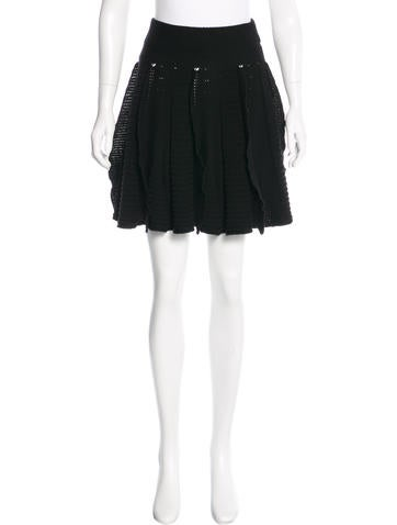 Valentino Wool Knit Skirt None