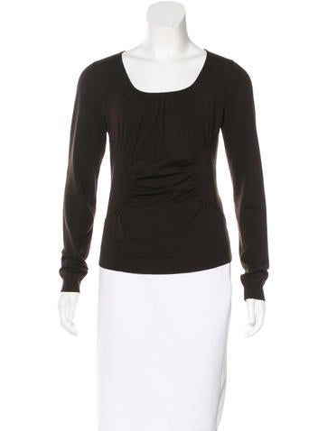Valentino Virgin Wool Long Sleeve Top None