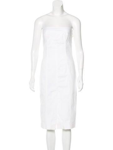Valentino Strapless Sheath Dress None