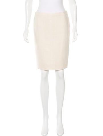 Valentino Tweed Mini Skirt None