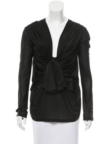 Valentino Silk Draped Top w/ Tags None