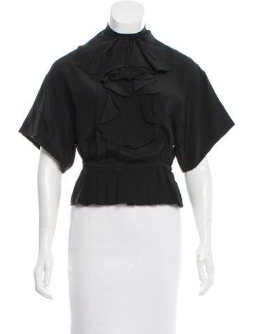Valentino Silk Crop Top w/ Tags None