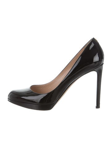 Valentino Patent Leather Semi Pointed-Toe Pumps