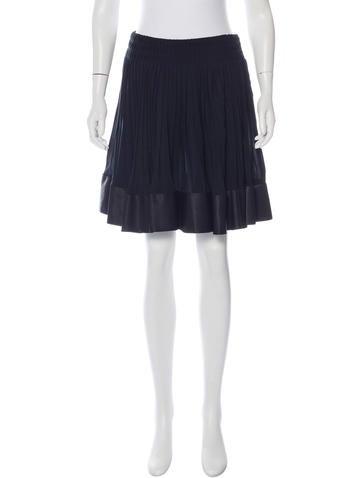 Valentino Pleated Mini Skirt None