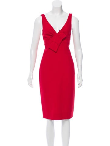 Valentino Bow-Accented Sheath Dress w/ Tags None