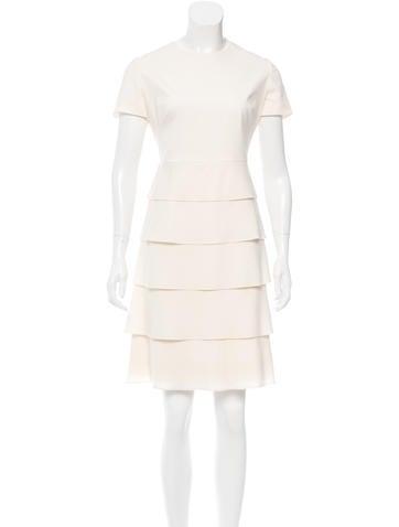 Valentino Wool Tiered Dress None