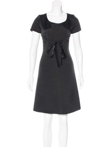 Valentino Wool & Silk-Blend Dress None