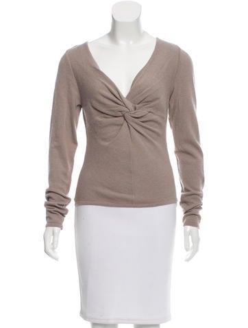 Valentino Knit V-Neck Sweater w/ Tags None