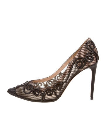 Valentino Intrigate Scroll Mesh Pumps None
