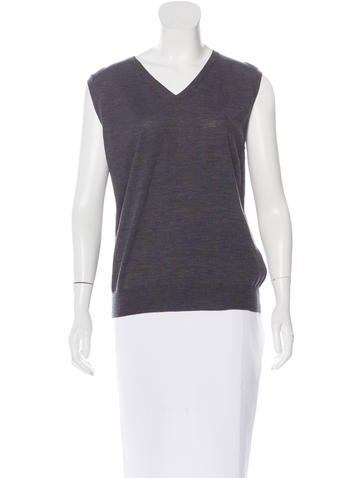 Valentino Sleeveless Wool Top None