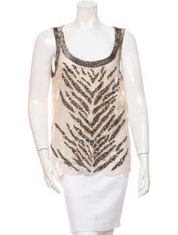 Valentino Embellished Lace Top None