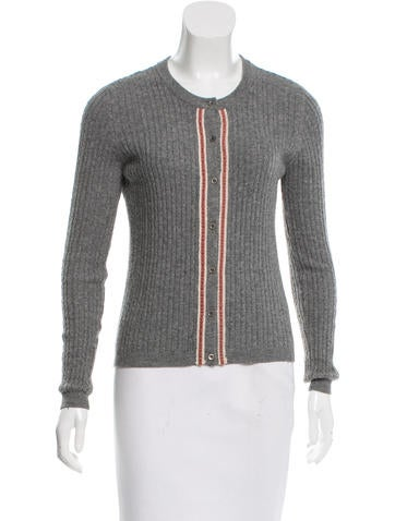 Valentino Knit Button-Up Cardigan None