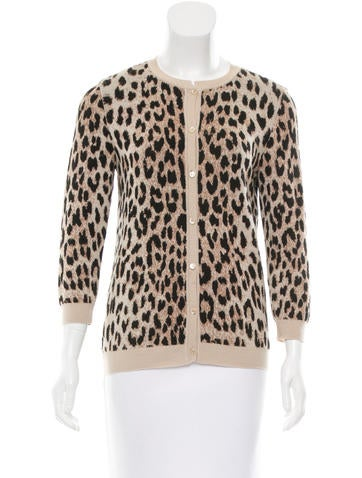 Valentino Leopard Wool Cardigan None