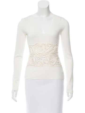 Valentino Embellished Knit Top None