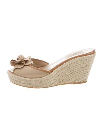 Valentino Espadrille Slide Sandals None