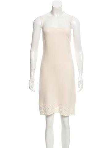 Valentino Beaded Silk Dress None