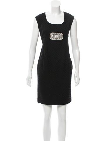 Valentino Virgin Wool Embellished Dress None