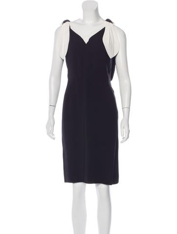 Valentino Bow-Accented Sheath Dress None