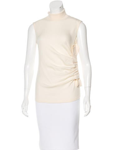 Valentino Ruched Wool Top w/ Tags None