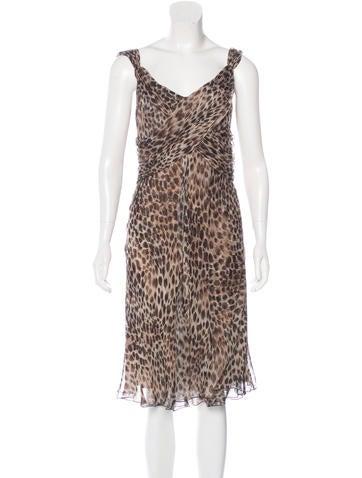 Valentino Silk Sleeveless Dress None