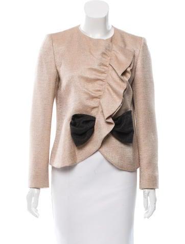Valentino Virgin Wool & Silk-Blend Jacket None