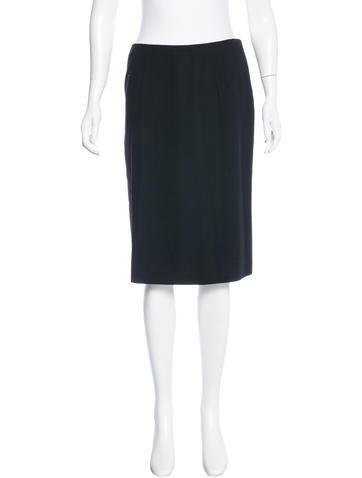 Valentino Knee-Length Virgin Wool Skirt None