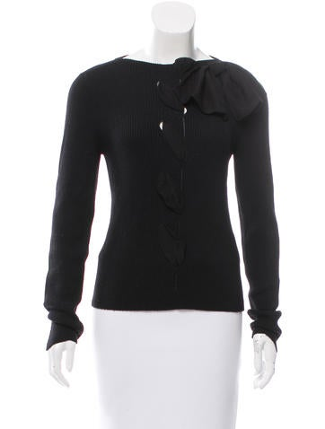 Valentino Wool Rib Knit Top None