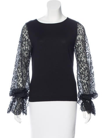 Valentino Virgin Wool Lace Sweater None