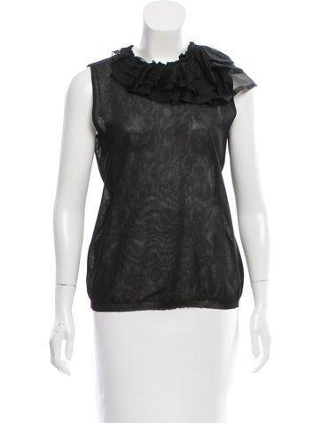 Valentino Ruffled Silk Top None