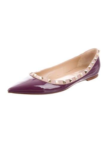 Rockstud Ballerina Flats