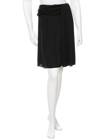 Valentino Sheer Mini Skirt None