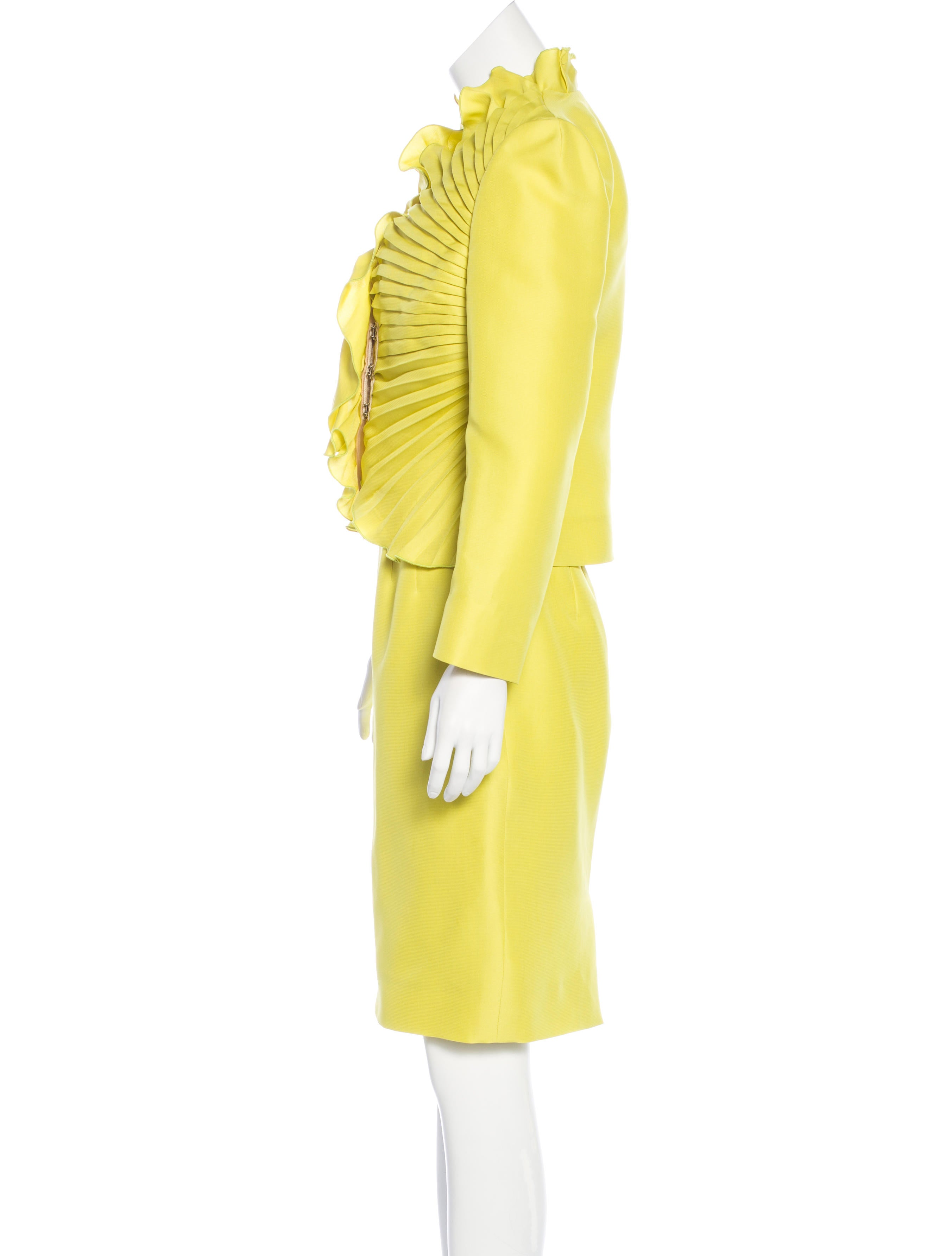 valentino silk pleated skirt suit clothing val55467