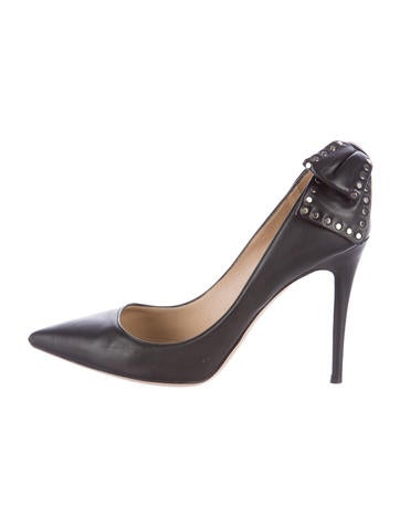 Valentino Leather Embellished Pumps None
