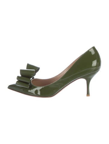 Valentino Patent Leather Bow Pumps None