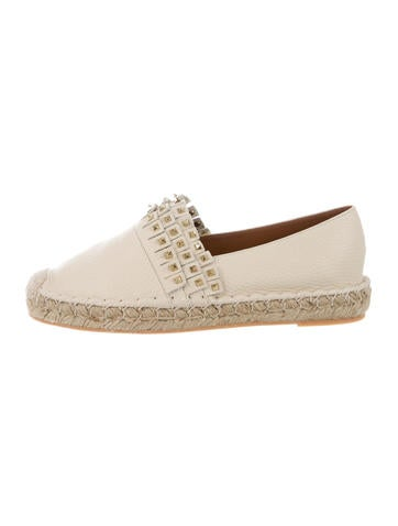 Valentino Leather Rockstud Espadrilles w/ Tags None