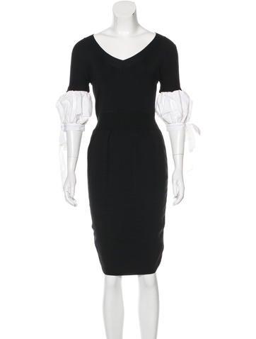 Valentino Knit Sheath Dress None