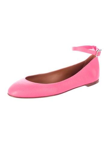 Rockstud Ankle Strap Flats