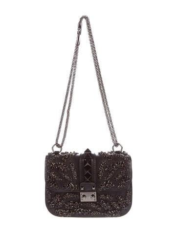 Valentino Swarovski-Embellished Lock Rockstud Bag