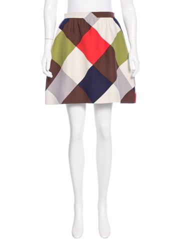 Valentino Harlequin Mini Skirt None