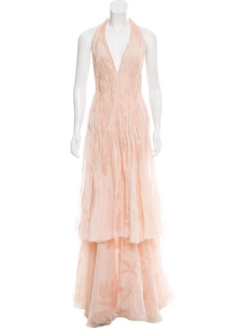 Silk Embellished Gown
