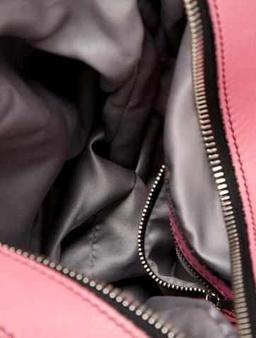 Ruffle Leather Hobo