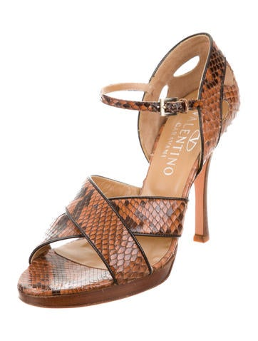Python Ankle Strap Sandals