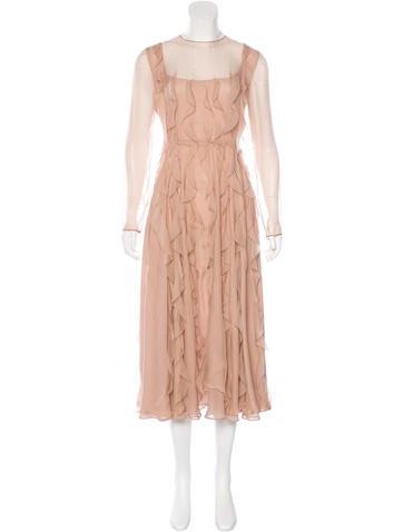 Valentino Fall 2016 Silk Dress None