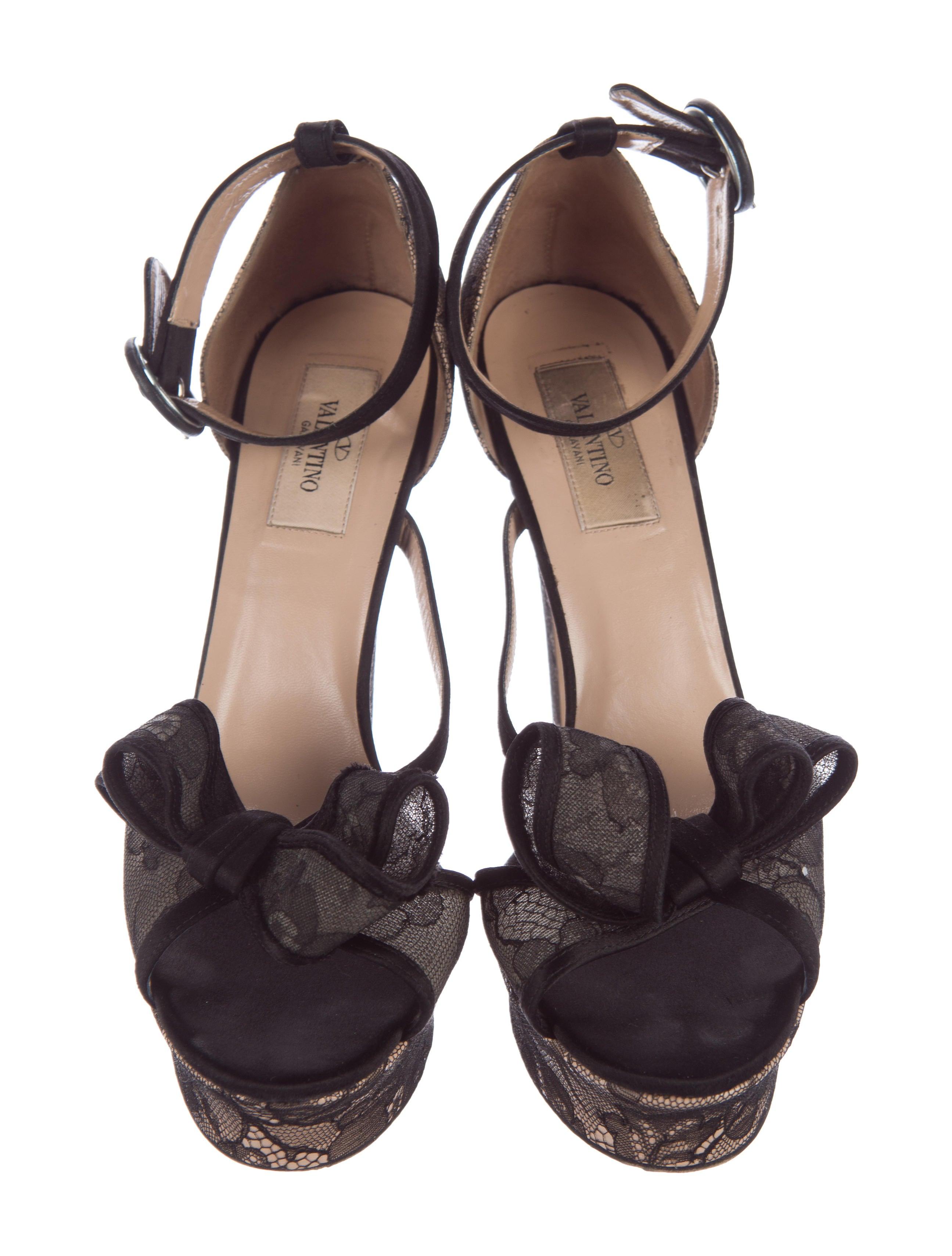 valentino lace platform sandals shoes val57531 the
