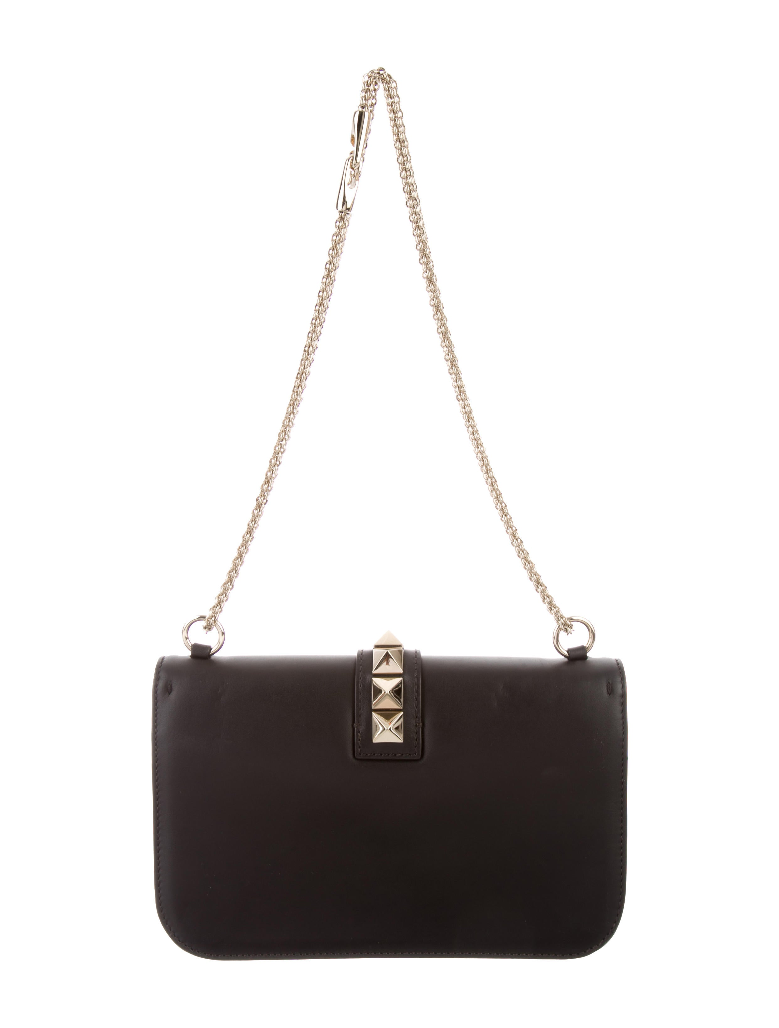 valentino medium lock rockstud bag handbags val57717 the realreal. Black Bedroom Furniture Sets. Home Design Ideas
