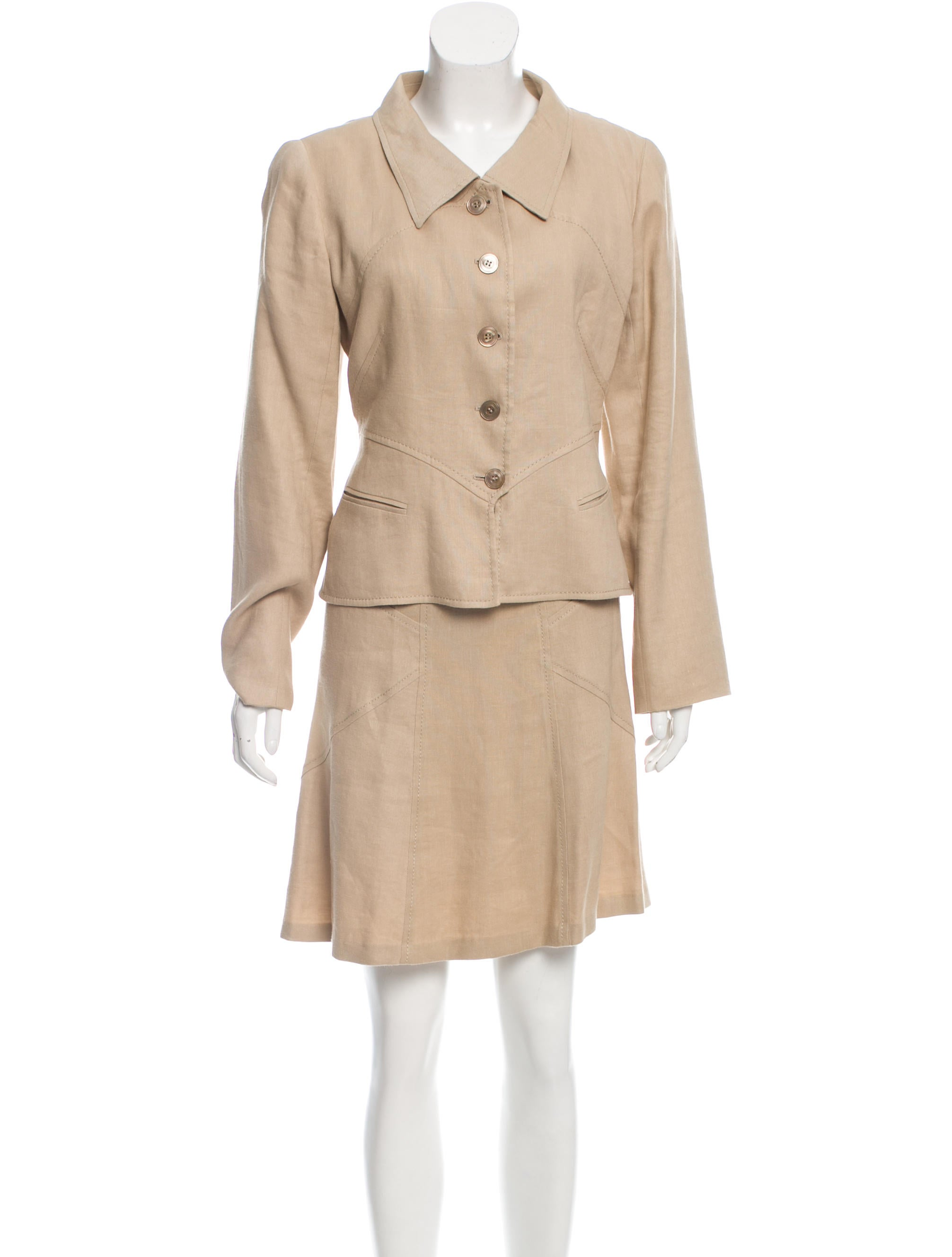 valentino linen a line skirt suit clothing val57780