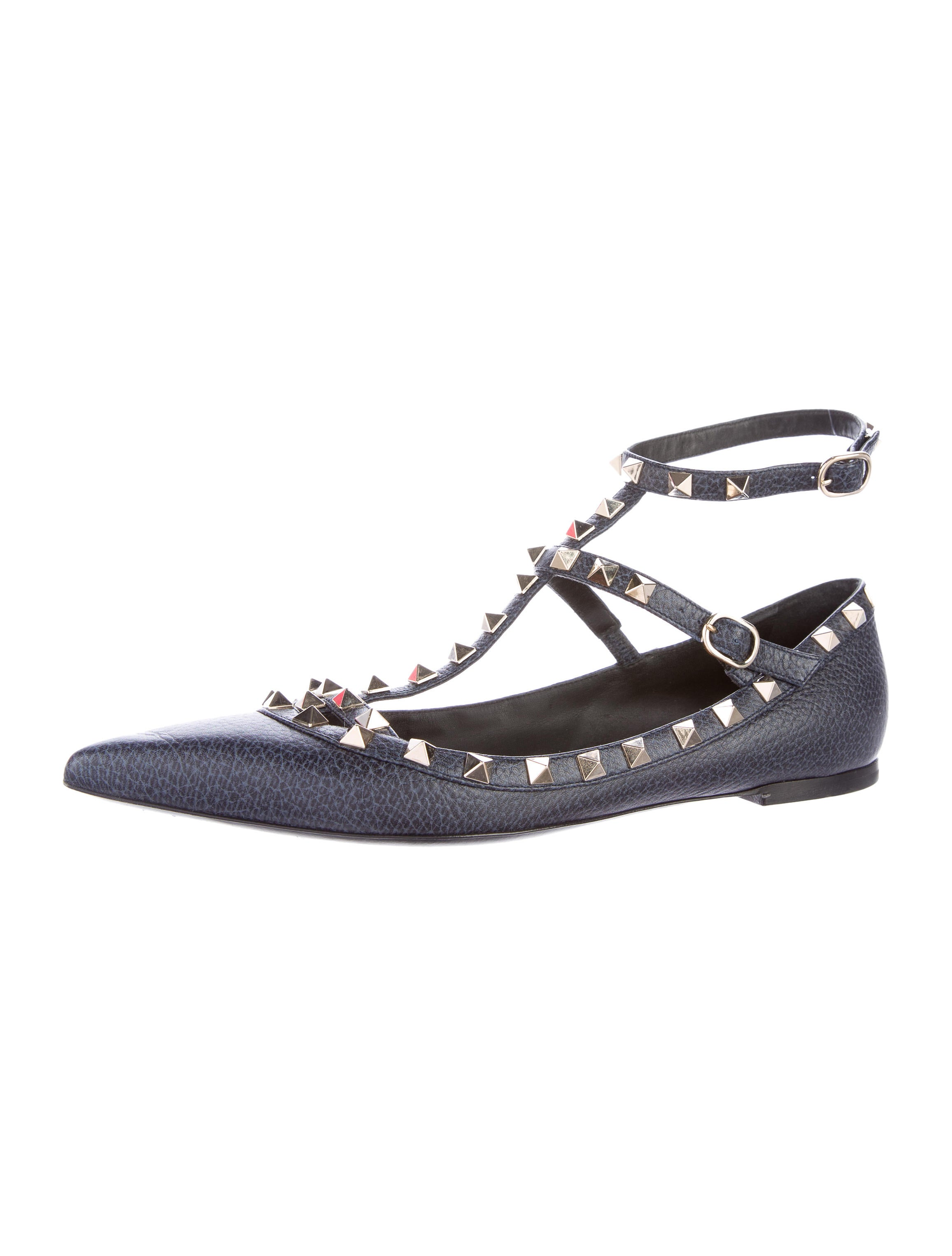 valentino rockstud ballerina flats shoes val57885 the realreal. Black Bedroom Furniture Sets. Home Design Ideas