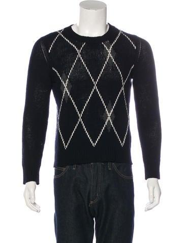 Valentino Wool Argyle Sweater None
