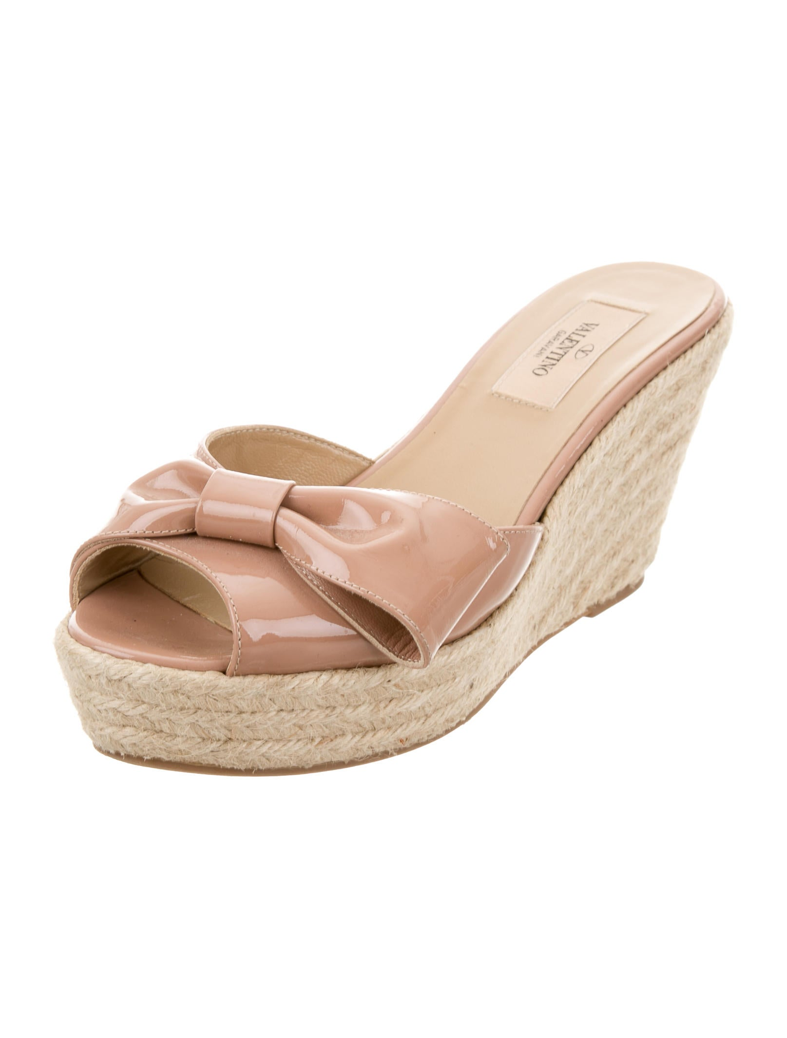 valentino bow espadrille wedge sandals shoes val58008
