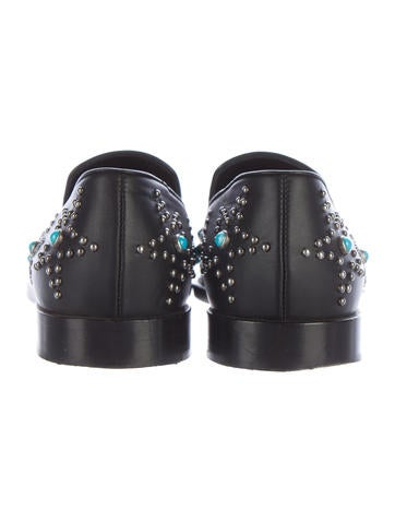 95047b82e5d Valentino Black Beatles Studded Loafers - Shoes - VAL58289